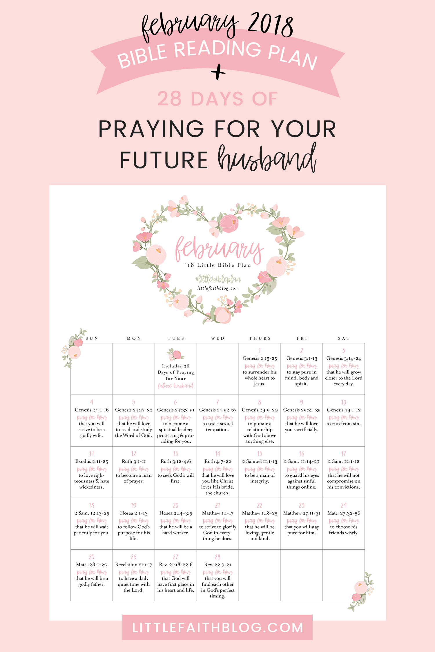 Calendar Ideas For Husband : February bible reading plan days of praying for